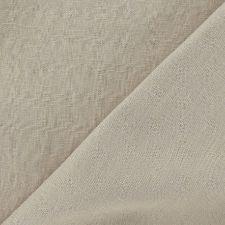 Tissu lin sable clair x 10cm