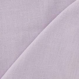 Tissu lin orchidée x 10cm