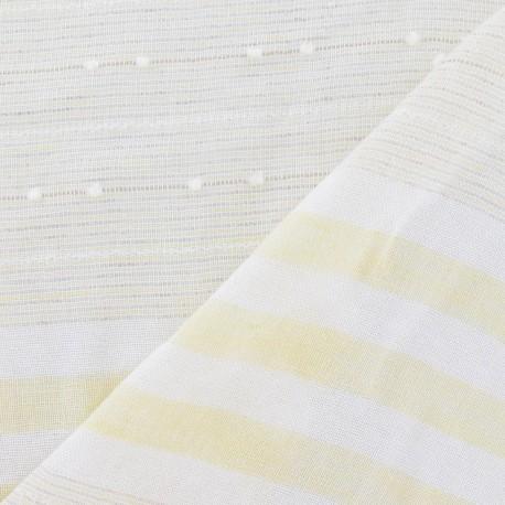 tissu gaze de lin plumetis rayures jaune p le x 10cm ma petite mercerie. Black Bedroom Furniture Sets. Home Design Ideas