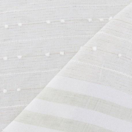 tissu gaze de lin plumetis rayures vert p le x 10cm ma petite mercerie. Black Bedroom Furniture Sets. Home Design Ideas