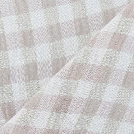 tissus pas cher tissu lin vichy rose p le. Black Bedroom Furniture Sets. Home Design Ideas