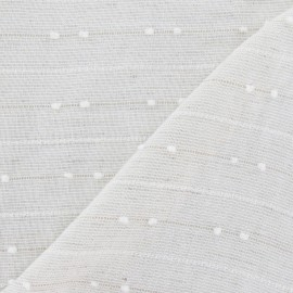 Plumetis Linen gauze Fabric - pale beige x 10cm