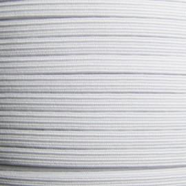 Élastique tubulaire blanc 3/4 mm