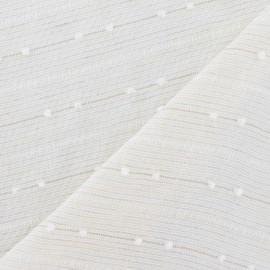 Tissu lin plumetis jaune pâle x 10cm