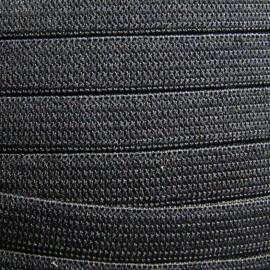 ÉlastiqueTissé noir 7 mm