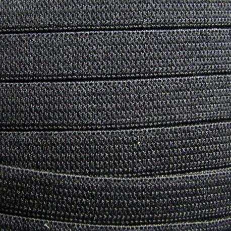 Élastique maille noir 7mm