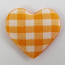 Gingham heart - orange