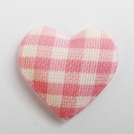 Gingham heart - pink