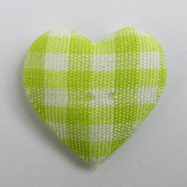 Gingham heart - lime
