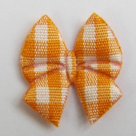 Bow tie iron-on applique - orange