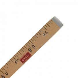 flat wooden measuring tape Bohin - brown
