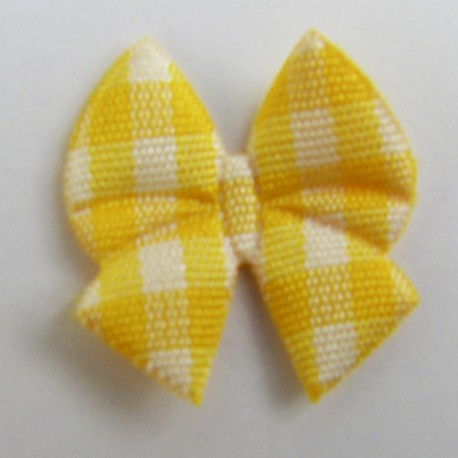 Bow tie iron-on applique - yellow
