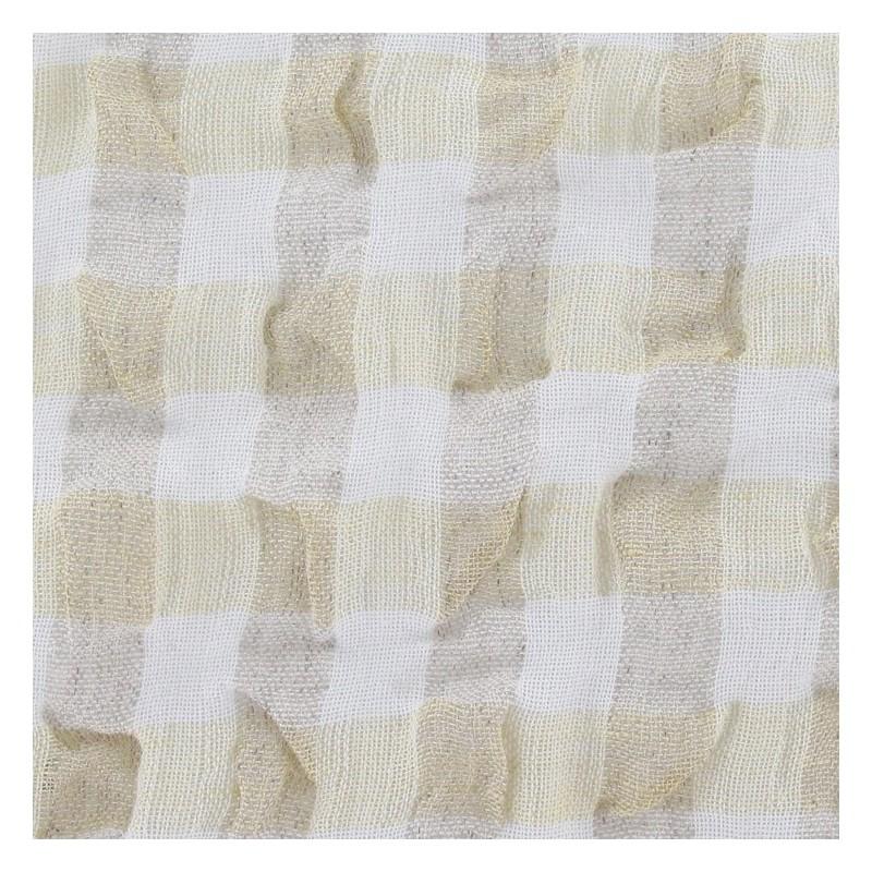 tissus pas cher tissu lin vichy gaufr jaune p le. Black Bedroom Furniture Sets. Home Design Ideas