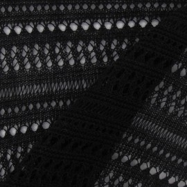 Perforated Stitch Fabric - Black x 10cm