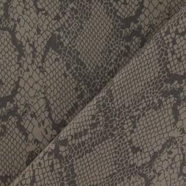 Tissu Gabardine Lycra serpent à paillettes beige x 10cm