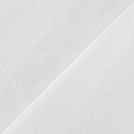 Ton sur ton D Embroidered Thread Cotton Fabric x 10cm