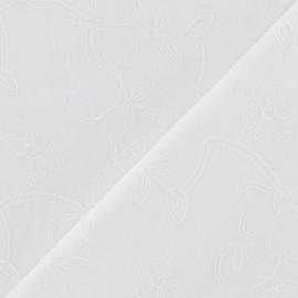Tissu coton fil brodé ton sur ton F x 10cm