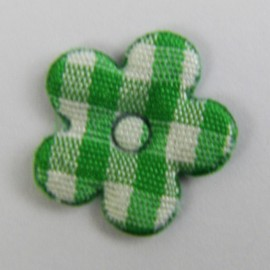Gingham Flower - green