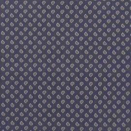 Tissu popeline Mini goutte V2 gris bleu x 10cm