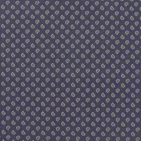 Fabric popeline Mini goutte V2 gris bleu x 10cm