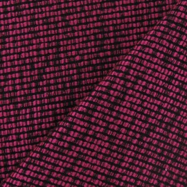 Tissu Tweed lainage d'été fuchsia x 10cm