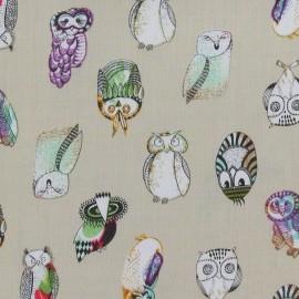 Hiboux Viscose Fabric - Light Sand x 10cm