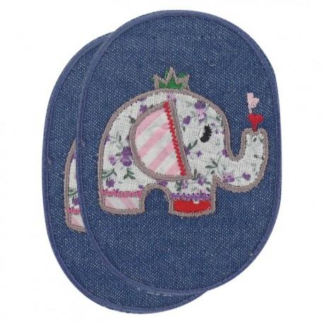 Coudière/Genouillère Éléphant sur jeans