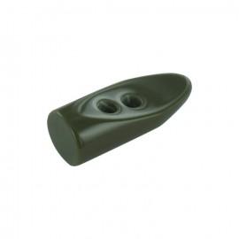 Polyester button, horn - khaki