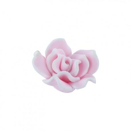 Polymer flower-shaped button - hot pink