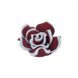 Bouton Forme fleur polymère pourpre