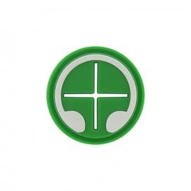 Passant fils écouteurs silicone vert