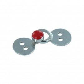 Hook & eye clasp - red