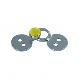 Hook & eye clasp - yellow