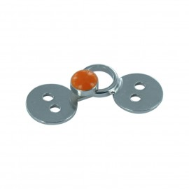 Hook & eye clasp - orange