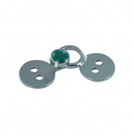 Hook & eye clasp - green