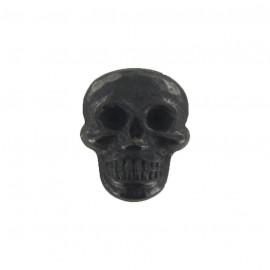 Bouton métal petite tête de mort noir