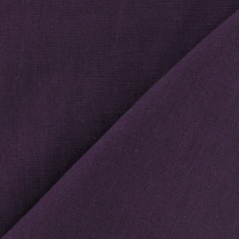 Linen Fabric - byzantium purple x 10cm