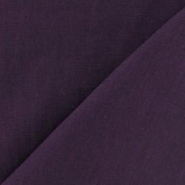 Tissu lin violet byzantium x 10cm