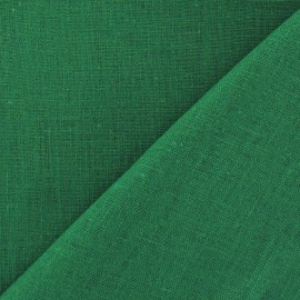 Linen Fabric - Malachite Green x 10cm