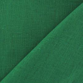 Linen Fabric - Malachite Green x 10cm