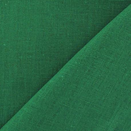 Tissu lin vert malachite x 10cm