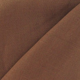 Linen Fabric - Chestnut x 10cm