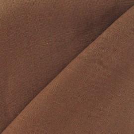 Tissu lin châtaigne x 10cm