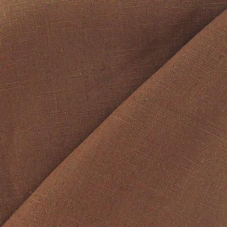 Tissu lin terre de sienne x 10cm