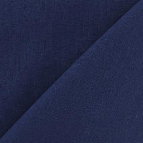 Tissu lin indigo x 10cm
