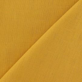 Linen Fabric - Safran x 10cm