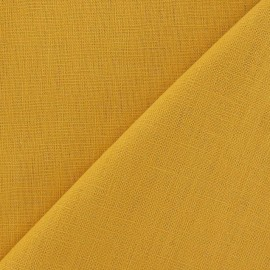 Tissu lin safran x 10cm