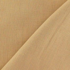Tissu lin beige clair x 10cm