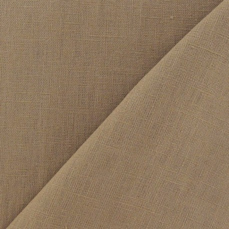 Linen Fabric - Toffee x 10cm