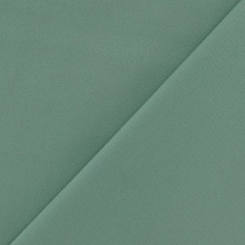 Tissu Gabardine Lycra vert sauge x 10cm